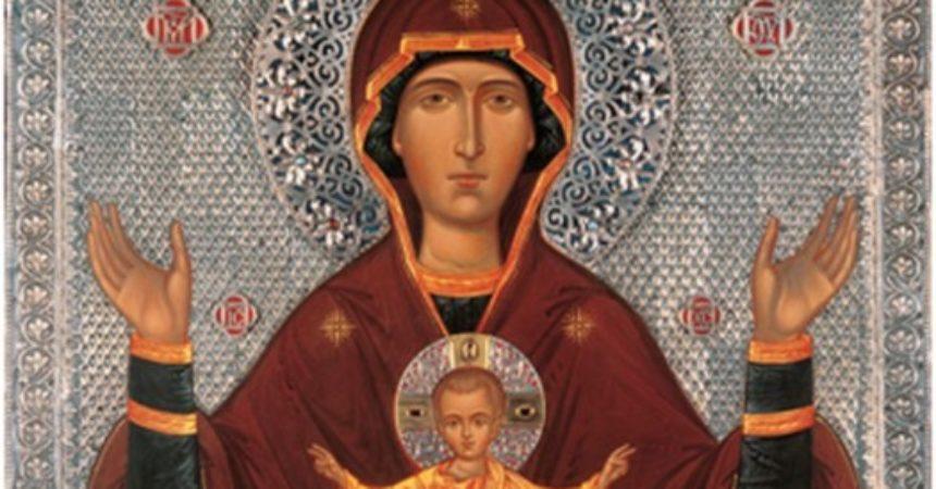 До 23 декабря в Спасском Староярмарочном соборе Нижнего Новгорода пребывает икона Божией Матери «Неупиваемая Чаша»
