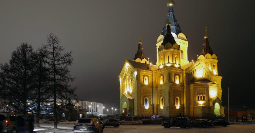 Митрополит Нижегородский и Арзамасский Георгий совершил рождественское богослужение в Александро-Невском кафедральном соборе