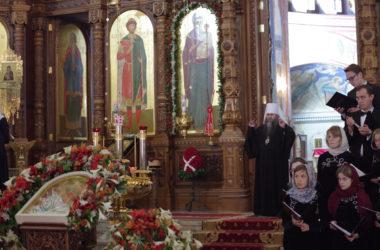 В Александро-Невском кафедральном соборе состоялся традиционный Пасхальный хоровой собор