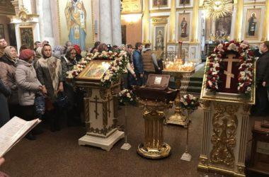 Встреча ковчега с мощами Феодора Ушакова