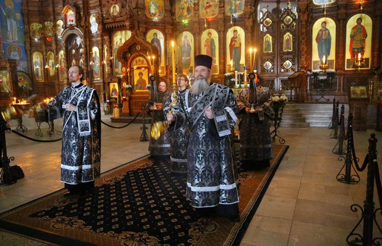 Митрополит Георгий возглавил литургию Преждеосвященных Даров в Александро-Невском кафедральном соборе
