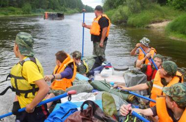 Сплав дружины Ушакова по реке Керженец
