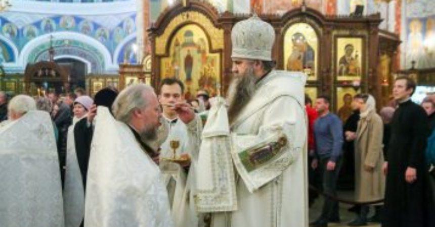 Митрополит Георгий совершил Всенощное бдение в Александро-Невском кафедральном соборе Нижнего Новгорода 6 января 2020 года