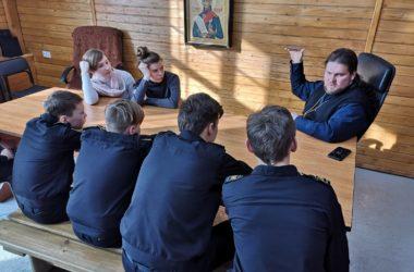 Необычный учебный день «дружинников-ушаковцев» 14 февраля 2021 года